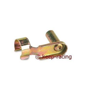 Clip, M6x24mm, Stahl, gold eloxiert