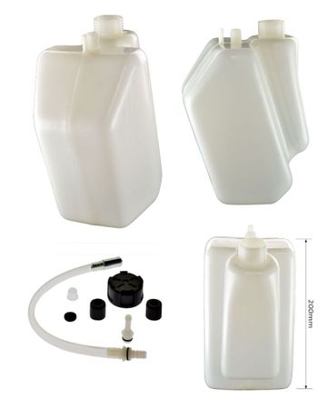 petrol tank 3 litres with black cap,fixed join