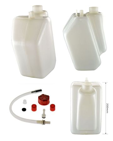 petrol tank 3 litres with red cap,fixed join