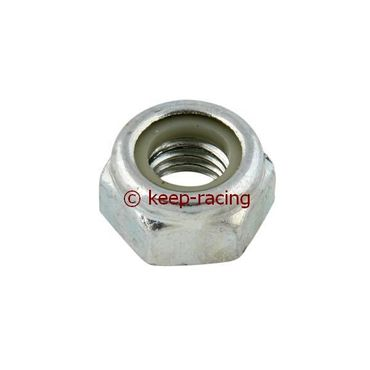 self-locking nut 14mb aluminium zinc-plated (for spindles)