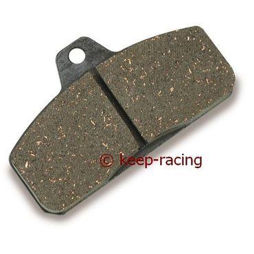 rear brake pad, hard type (111), black colour, thickness 16mm