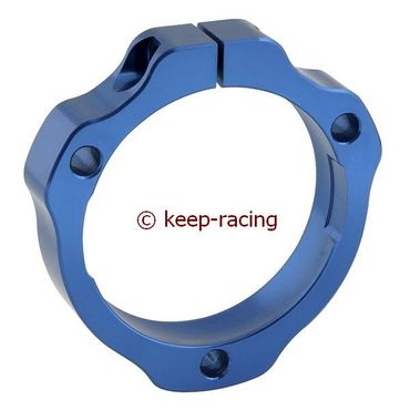 adjustable aluminium housing for 40/50mm axle bearing blue anodized