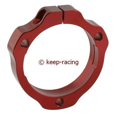 adjustable aluminium housing for 40/50mm axle bearing red anodized