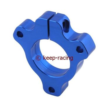adjustable aluminium housing for 25mm axle bearing blue anodized