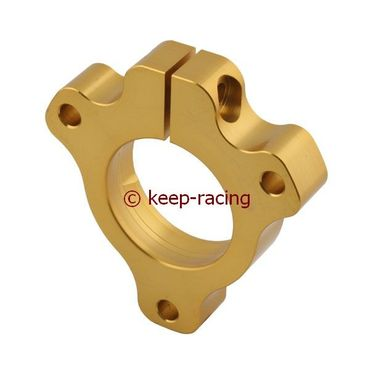 adjustable aluminium housing for 25mm axle bearing gold anodized