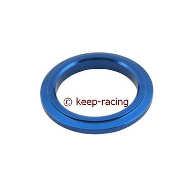 aluminium spindle spacer 25x5mm, blue anodized