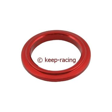 aluminium spindle spacer 25x5mm, red anodized