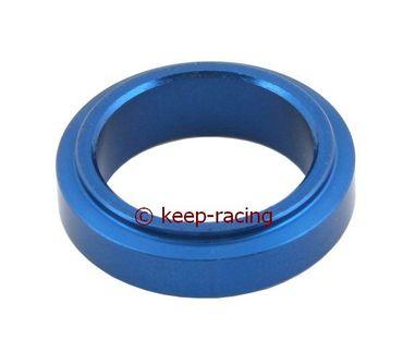 Aluminium Distanzstück 25x10mm, blau eloxiert