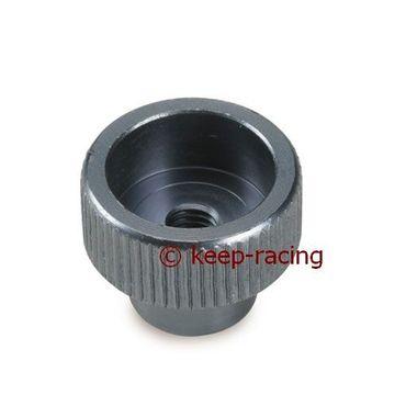 Knopf für Bremseinstellung, M5, titan eloxiert