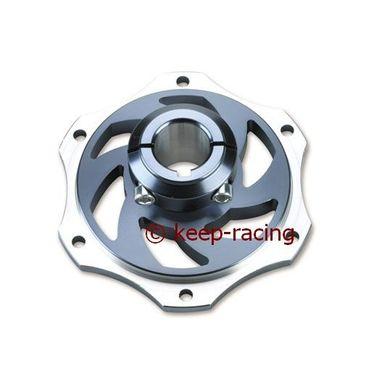Bremsscheibenaufnahme, Aluminium, für 25mm Achse, titan eloxiert