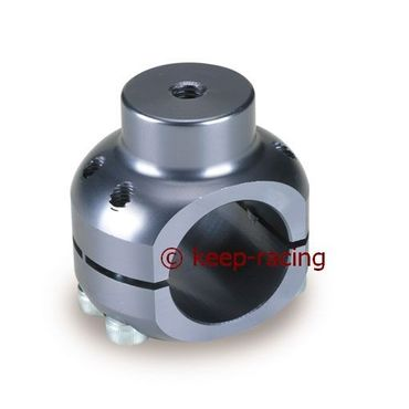 aluminium clamp d.28mm support titanium anodized