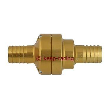 complete aluminium thermostatic valve 35/45 gold anodized