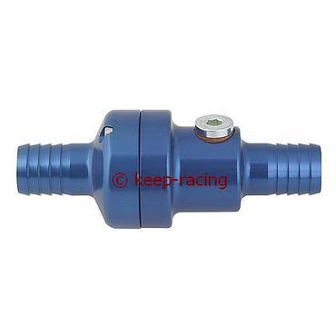 complete aluminium thermostatic valve 35/45 blue anodized + m10x1