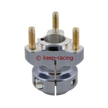 aluminium rear hub 25/62-6 titanium anodized
