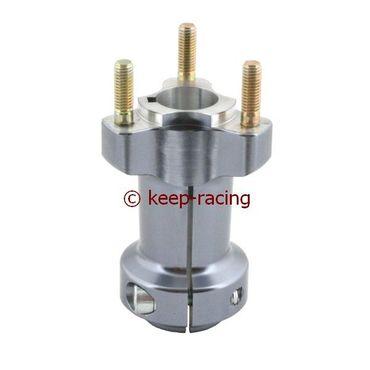 aluminium rear hub 25/95-6 titanium anodized