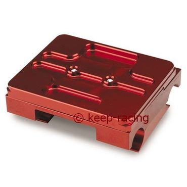 flat engine mount 32/92mm complete with brackets red anodized