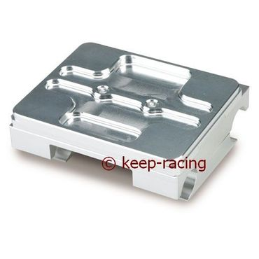 flat engine mount 32/92mm complete with brackets aluminium anodized