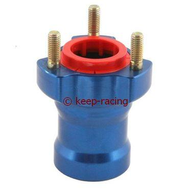 blue anodized aluminium front hub l.75mm 25mm