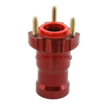 Radstern vorne, Aluminium, 25mm Aufnahme, Länge 95mm, rot eloxiert