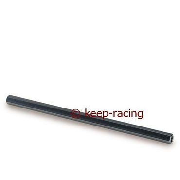 aluminium steering tie rod m8x220 titanium anodized hexagonal section