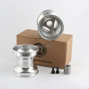 5 Zoll Aluminiumfelgen, Satz, 125mm, Speichendesign, 17mm