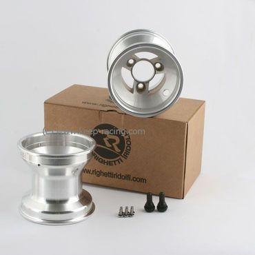 5 Zoll Aluminiumfelgen, Satz (2 Stück), 125mm, Felgensicherung, 58mm Lochabstand