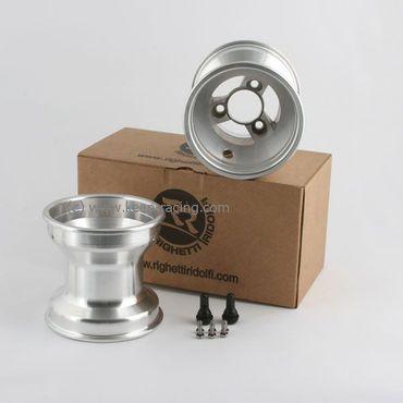 5 Zoll Aluminiumfelgen, Satz (2 Stück), 130mm, Felgensicherung, 58mm Lochabstand