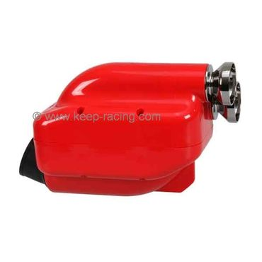"Airbox 23mm, red/chrome, Type ""NOX"", homologated"