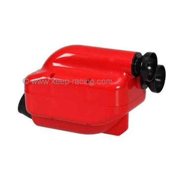 "Airbox 30mm, red/black, Type ""NOX"", homologated"