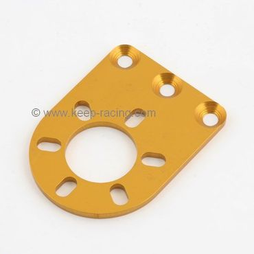 Hand pump fixing plate, gold anodized