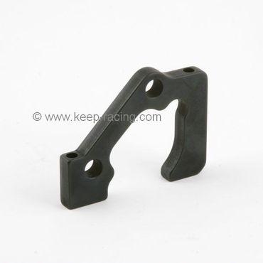 Aluminiumhalter für 2x2 Bremssattel, vorne, schwarz eloxiert