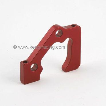 Aluminiumhalter für 2x2 Bremssattel, vorne, rot eloxiert