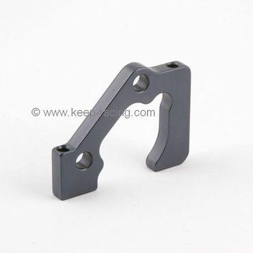 Aluminiumhalter für 2x2 Bremssattel, vorne, titan eloxiert
