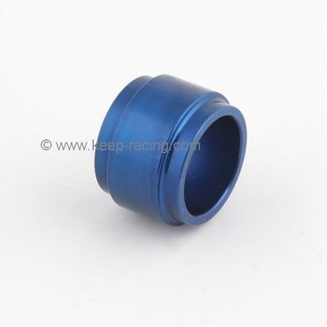 aluminium spindle spacer 25x25mm, blue anodized