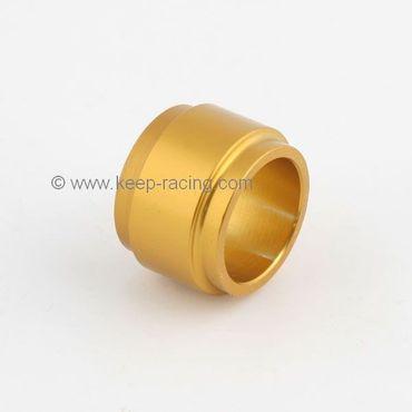 Aluminium Distanzstück 25x25mm, gold eloxiert