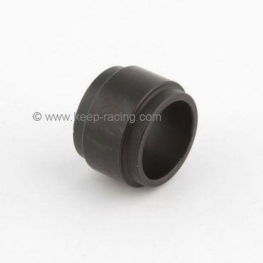 Aluminium Distanzstück 25x25mm, schwarz eloxiert