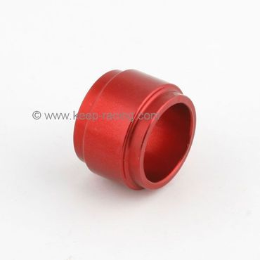 aluminium spindle spacer 25x25mm, red anodized