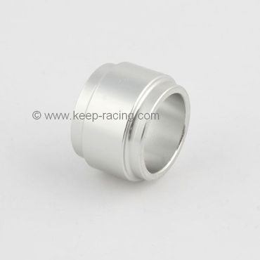 aluminium spindle spacer 25x25mm, silver anodized