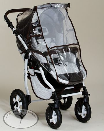 Kinderwagen mit Herz Romance Weiß Dots Brown | Coronio – Bild 5