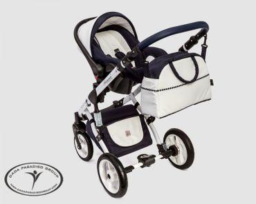 3in1 Kombikinderwagen mit Babyschale, Babywanne, Sportsitz  – Bild 3