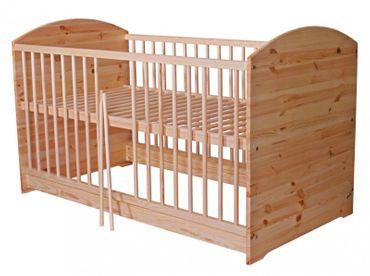 2 in 1 Kinderbett 140 x 70 Umbaubar zum Juniorbett Holz Kiefer | Coronio – Bild 1