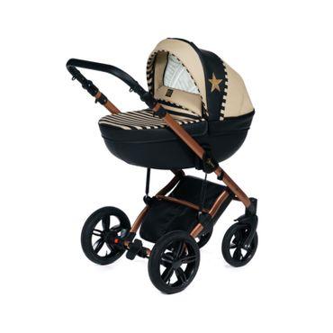 Stars Gold Kombi Kinderwagen 4 in 1 mit Isofix Babyschale und Basis | Coronio – Bild 8