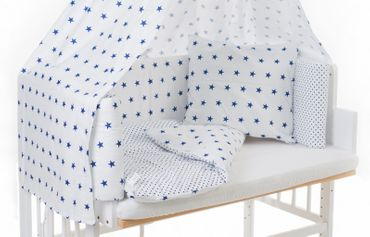 Baby Bettwäsche Dots Sterne für Beistellbett + Wiege|Coronio – Bild 2