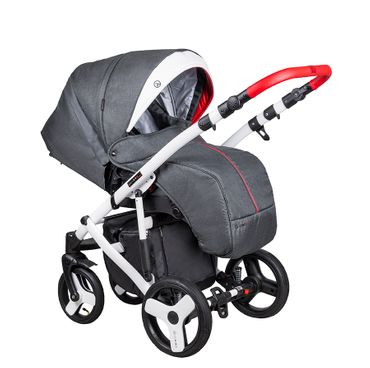 Kinderwagen Florino Carbon FN-02 Isofix Babyschale Set 3 in1  – Bild 2
