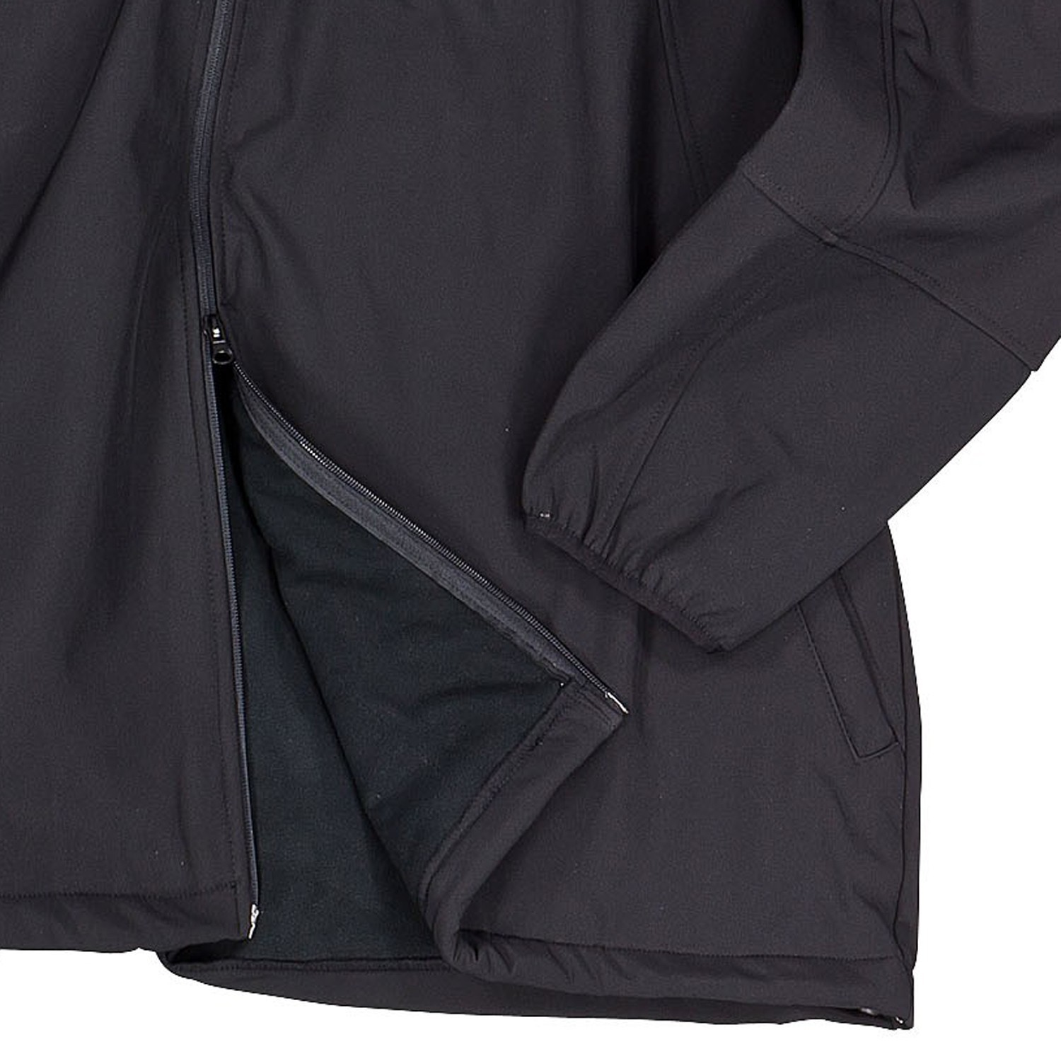 Detail Image to Softshell jacket in black by Marc&Mark in extra large sizes up to 10XL