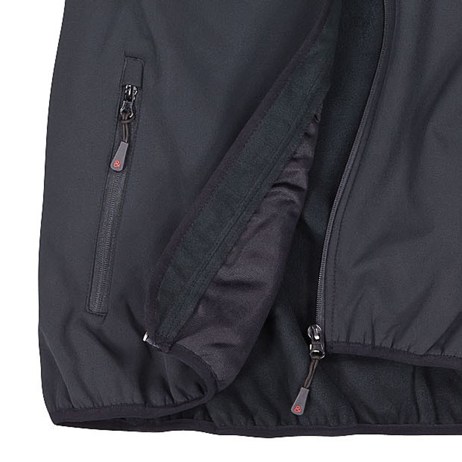 Detail Image to Softshell vest in black by marc&mark in plus sizes up to 10XL