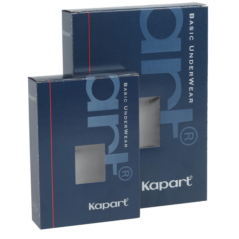 Image de détail de Caleçon long blanc côte fine avec ouverture de Kapart grandes tailles jusqu'à 20