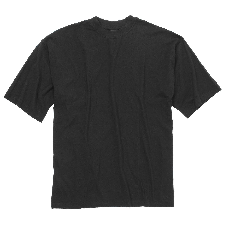 Image de détail de T-shirt noir 100% coton de Kapart // grandes tailles jusqu'au 8XL