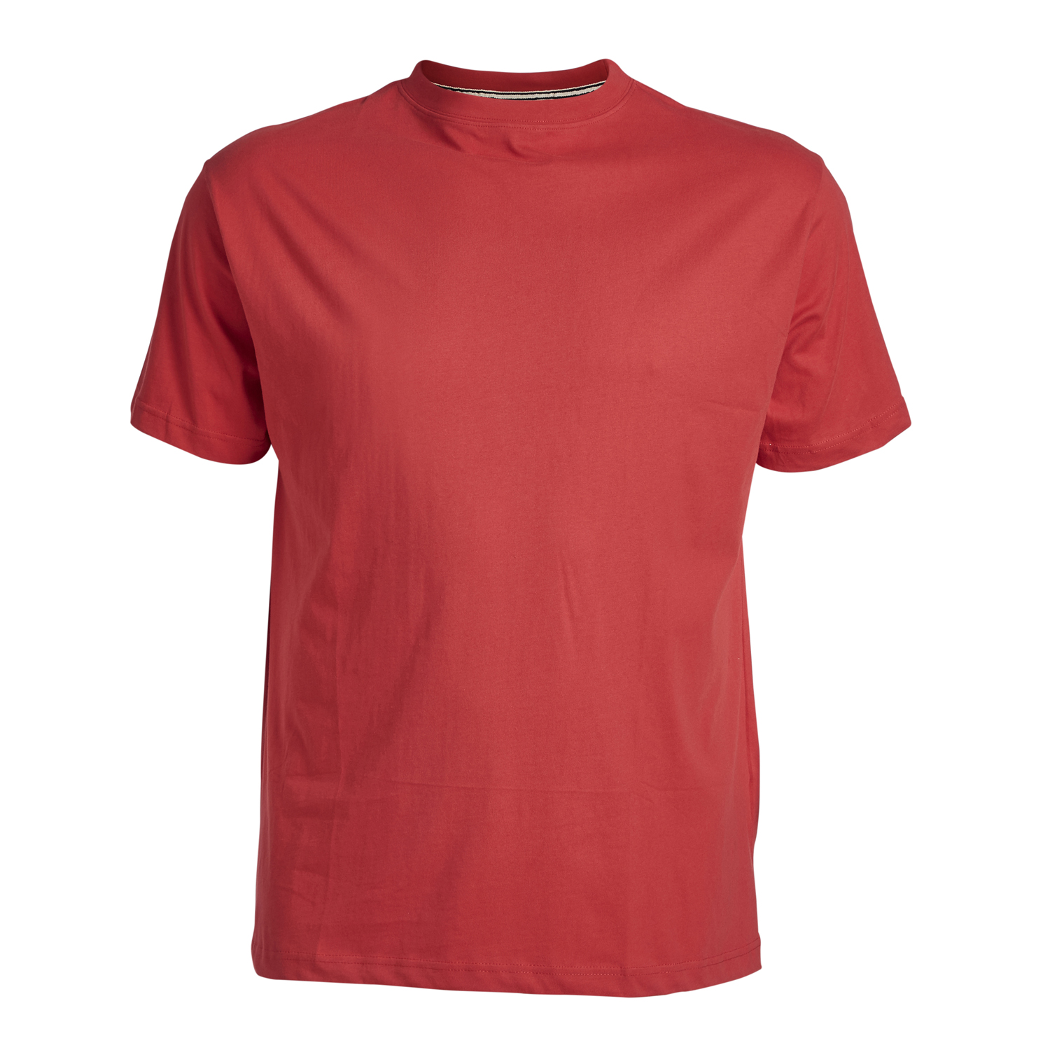 Detailbild zu Rotes Basic-T-Shirt - Rundhals - North 56°4 bis 8XL