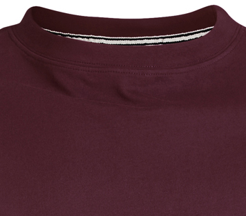 Detail Image to Basic t-shirt in bordeaux by North 56°4 in extra large sizes until 8XL